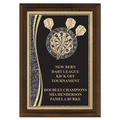 5&quot; x 7&quot; Brass Designer Dart Plaque