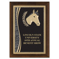 5&quot; x 7&quot; Brass Designer Equestrian Plaque