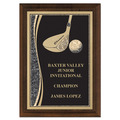 "5"" x 7"" Brass Designer Golf Plaque"