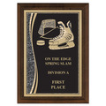 "5"" x 7"" Brass Designer Hockey Plaque"