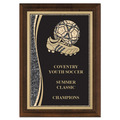 5&quot; x 7&quot; Brass Designer Soccer Plaque