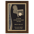Brass Designer Tennis Award Plaque