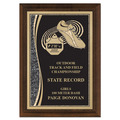 Brass Designer Track Award Plaque