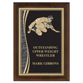 "5"" x 7"" Brass Designer Wrestling Plaque"