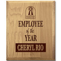 Solid Red Alder Award Plaque