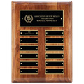9&quot; x 12&quot; Walnut Perpetual Award Plaque