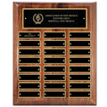 "10-1/2"" x 13"" Walnut Perpetual Award Plaque"