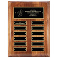 "9"" x 12"" Walnut Perpetual Dog Show Award Plaque"