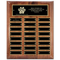 "10-1/2"" x 13"" Walnut Perpetual Dog Show Award Plaque"