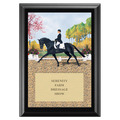 Extended Trot Full Color Plaque - Black