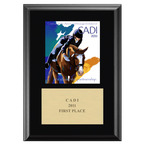 Custom Full Color Horse Show Award Plaque - Black