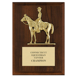 Quarter Horse w/ Rider Award Plaque