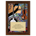 Folk Full Color Fair, Festival & 4-H Award Plaque - Cherry Finish
