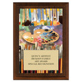 Art Brushes Full Color Fair, Festival &amp; 4-H Award Plaque - Cherry Finish