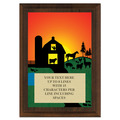 Full Color Plaque w/ Farm Stock Design  - Cherry