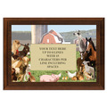 Full Color Plaque w/ Farm Animal Stock Design  - Cherry