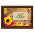 Full Color Plaque w/ Flowers Stock Design  - Cherry