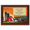 Full Color Plaque w/ Red Barn Stock Design  - Cherry