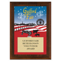Custom Full Color Fair Award Plaque - Cherry Finished