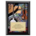 Folk Full Color Fair, Festival & 4-H Award Plaque - Black Finish