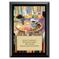 Art Brushes Full Color Fair, Festival & 4-H Award Plaque - Black Finish