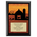 Full Color Plaque w/ Fair and Festival Stock Design  - Black