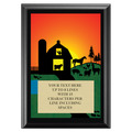 Full Color Plaque w/ Farm Stock Design  - Black