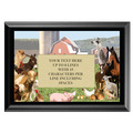 Full Color Plaque w/ Farm Animal Stock Design  - Black