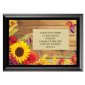Full Color Plaque w/ Flowers Stock Design  - Black