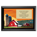 Full Color Plaque w/ Red Barn Stock Design  - Black