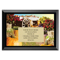 Full Color Plaque w/ Wagon Stock Design - Black
