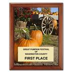 Full Color Mango Wood Plaque w/ Plate