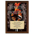"5"" x 7"" Full Color Athletic Excellence Plaque - Cherry-Finished"