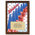 "5"" x 7"" Full Color Cheer Spirit Plaque - Cherry Finished"