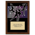 "5"" x 7"" Full Color Dance Styles Plaque - Cherry Finish"