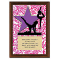 "5"" x 7"" Full Color Gym Star Female Plaque - Cherry Finished"