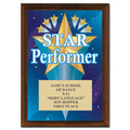 "5"" x 7"" Full Color Star Performer Plaque - Cherry-Finished"