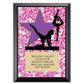 "5"" x 7"" Full Color Gym Star Female Plaque - Black"
