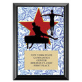"5"" x 7"" Full Color Gym Star Male Plaque - Black"