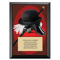 "5"" x 7"" Full Color Tap Plaque - Black"