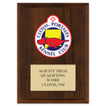 Full Color Custom Dog Show Plaque - Cherry Finish