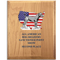 Full Color Solid Red Alder Dog Show Plaque