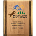 Full Color Red Alder and Walnut Dog Show Plaque