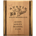 Red Alder and Walnut Award Plaque