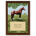 Full Horse Full Color Plaque - Cherry Finish