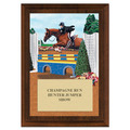 Equitation Full Color Horse Show Award Plaque - Cherry Finish