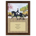 Extended Trot Full Color Plaque - Cherry Finish