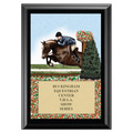 Hunter Full Color Horse Show Award Plaque - Black