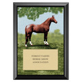 Full Horse Full Color Plaque - Black