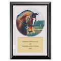 Dressage Horse Head Full Color Plaque - Cherry Tone